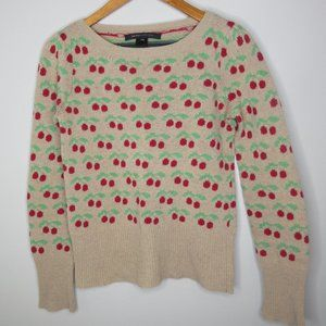 Marc Jacobs Cherries pullover sweater sz XS